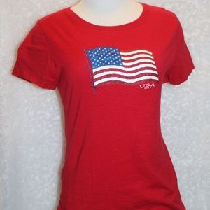 Faded Glory American Flag Ladies size M 8-10
